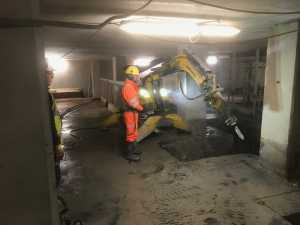 brokk demolition at Manchester New Square